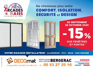 -15% sur vos fenêtres et portes