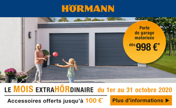 Accessoires offerts jusqu'à 100 euros Hormann